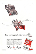 1938 Texaco Motor Oil WWII Military Motorcycle print ad - $10.00