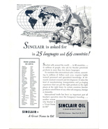 1949 Sinclair Oil Intl market world atlas print ad - $10.00