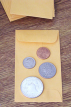 25 NEW SMALL 2 1/2 X 4 1/4 KRAFT COIN ENVELOPES... - $4.50