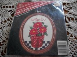 Banar Designs Noel Poinsettia Counted Cross Stitch Kit CSOC 470 - $7.00