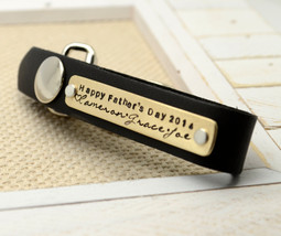 Personalized Leather Key Chain, Men's Keychain ... - $29.00