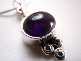 New Amethyst 925 Sterling Silver Necklace India - €21,16 EUR