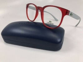 New LACOSTE KIDS L3908 615 Matte Red & Grey Eyeglasses 48mm with Case - $56.38