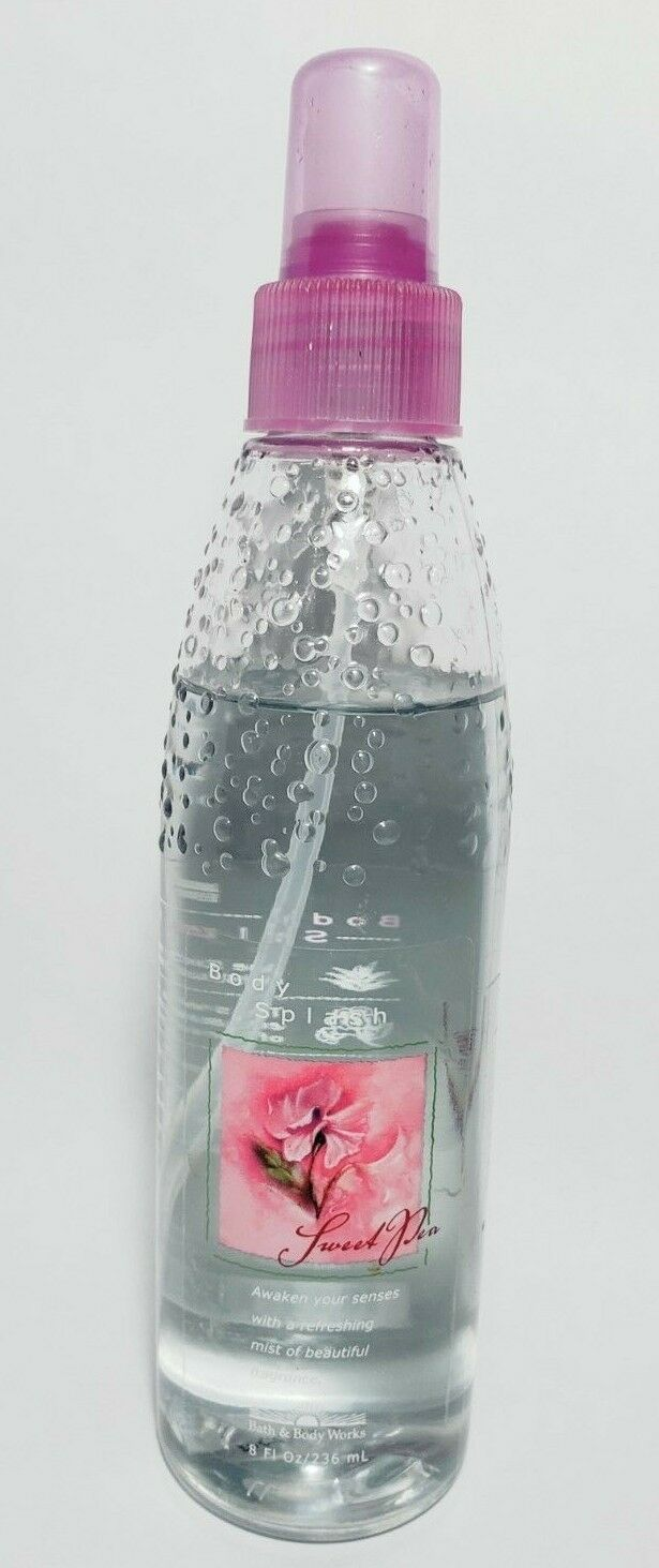 Primary image for Bath & Body Works Original Formula SWEET PEA Body Splash Spray 8 oz w/ Aloe Vera