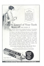1937 Colgate Dental Cream Save Teeth Enamel print ad - $10.00