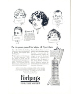 1930 Forhan's for the Gums Tooth Paste print ad - $10.00