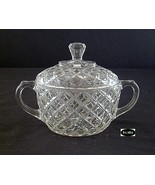 Waterford Waffle Crystal Sugar Bowl with Lid Hocking - $15.50