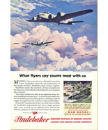 1945 Studebaker Boeing Wright Cyclone Engine Builder print a - $10.00