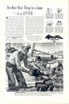 1945 Martin Mars Aircraft Speed Mail V-Mail print ad - $10.00