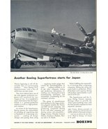 1944 Boeing B-29 Superfortress WWII War Plane print ad - $10.00