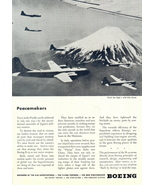 1944 Boeing Peacemakers B-29 Pacific War print ad - $10.00