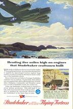 1944 Studebaker Flying Fortress Boeing B-17 print ad - $10.00
