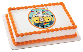 Despicable Me 2-Party Time Edible Image Cake Topper - ₨630.74 INR