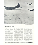 1944 Boeing Flying Fortress aircraft formation print ad - $10.00