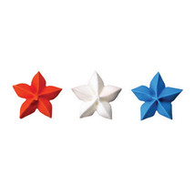 Patriotic Stars Edible Sugar Cupcake Toppers - $3.50