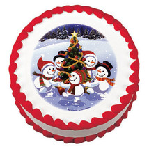 Winter Buddies Christmas Edible Image Cake Topper - €7,83 EUR