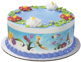 Disney Fairies-Flowers Designer Prints Edible Image Cake Topper - €7,70 EUR