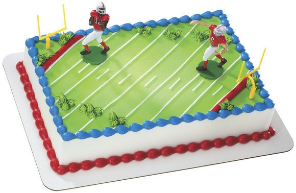 Football Touchdown Cake Decoration