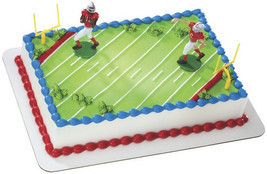 Football Touchdown Cake Decoration - $8.99
