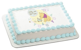 Winnie the Pooh Little One on the Way Edible Image Cake Topper - $8.99