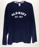 Mens Old Navy Navy Blue Long SleeveT Shirt Size L - $10.95