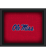 "University of Mississippi ""College Logo Plus Word Clouds"" - 15 x 18 Fram... - $49.95"
