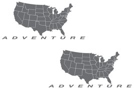 "Adventure Motorcycle Decal Kit ""USA Adventure Map"" for Touratech Pannier... - $45.00"