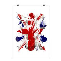 Rock&Roll Britain Guitar Flag Matte/Glossy Poster A0 A1 A2 A3 A4 | Wellcoda - $7.99+