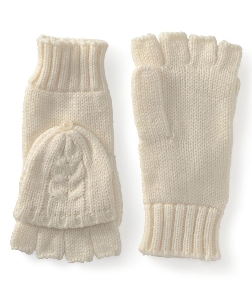 Womens Girls Aeropostale Knit Gloves Fold Over Mittens -8704