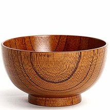 Cospring 1PC Solid Wood Bowl, 5.5 inch Dia by 3-1/8 inc, for Rice, Soup,... - $15.66