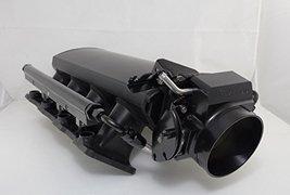A-Team Performance SHORT FABRICATED BLACK GM LS3 L92 INTAKE MANIFOLD W/ FUEL RAI