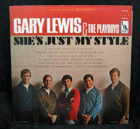 Gary Lewis & The Playboys She's Just My Style 1966 LST 7435