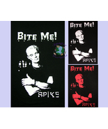 S M L XL Spike Bite Me T-Shirt tagless black brown gray H5250 Vampire Bu... - $13.99