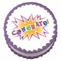 Congrats ~ Edible Image Cake / Cupcake Topper - ₹540.47 INR