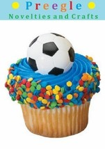 Soccer Ball Cupcake Rings 12 Pack [Toy] - $1.89