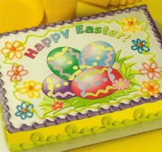 Happy Easter Eggs ~ Edible Image Cake Topper - $7.59