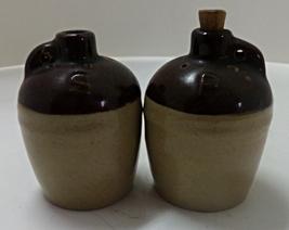 Vintage Primitive WHISKEY JUG Salt & Pepper Shakers  - $8.00