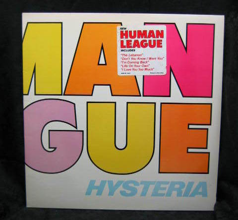 Human League Hysteria 1984 A&M Promo  Record SP 4923