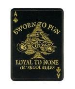 "****LOYAL TO NONE ( 4"" ) MOTORCYCLE JACKET VEST BIKER PATCH**** - $11.87"