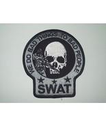 SWAT SNIPER DEATH SKULL PATCH (GRAY&BLACK) - $11.87