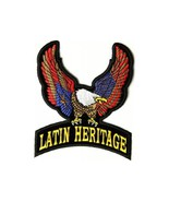 LATIN HERITAGE EAGLE MOTORCYCLE BIKER LEATHER JACKET VEST MILITARY PATCH - $10.88