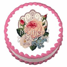 Mother with Lace ~ Edible Image Cake / Cupcake Topper - ₹547.02 INR