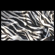 Silk Zebra Duvet Cover 4 Pc Bed Set King Queen Full Top Sheet & 2 Pillowcases image 2