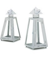 Gray Iron Candle Lanterns Lot of 2 - ₨2,115.28 INR