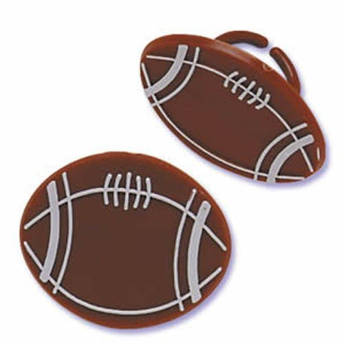 Football Ring 8pk Cake Decoration [Toy]
