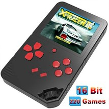 Douddy 16 Bit Handheld Game Console for Kids Adults Built in 220 HD Classic Elec