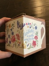 Vintage Hallmark 1983 Ceramic Coffee Mug Flowers Butterflies Grandmother... - $12.34