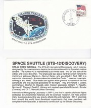 STS-42 DISCOVERY EDWARDS AFB CA JANUARY 30 1992 WITH INSERT CARD - $1.98