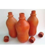 Himalayan Range Terracotta Handmade Natural Clay waterbottle water pot w... - $29.70