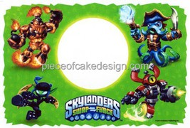 "2"" ~ Skylanders Swap Force Photo Frame Birthday ~ Edible Image Cake/Cupc... - $9.48"